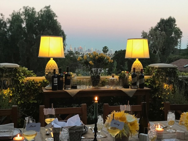Hollywood Hills dinner party