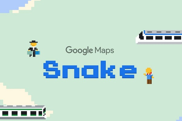 φιδάκι snake 1st april prank google maps