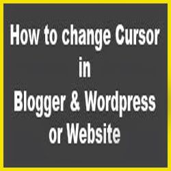 change Cursor in Blogger or Website