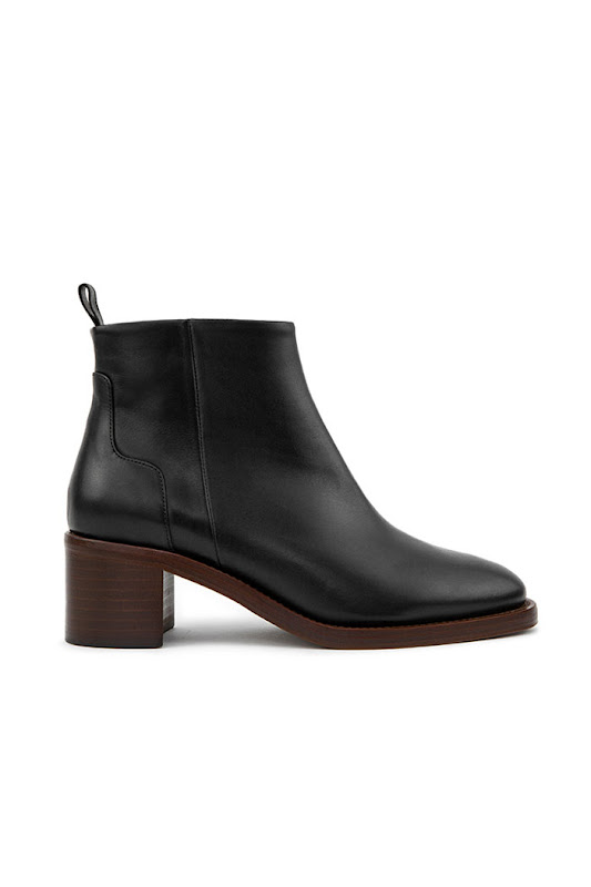 Collection bottines Rivecour cuir noir