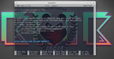 alias update='sudo apt-get update'