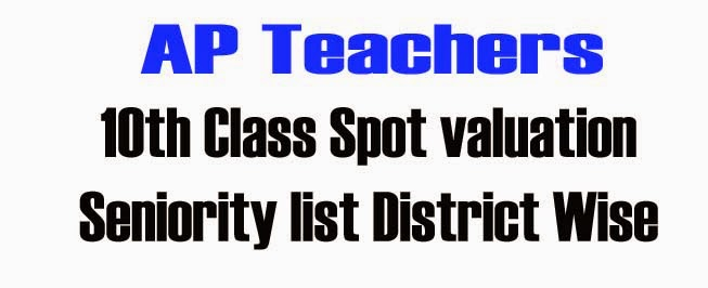 AP 10th Class Spot valuation Seniority list District Wise Download