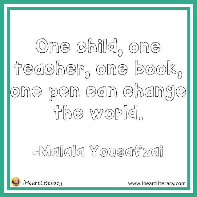 One child, one teacher, one book, one pen can change the world. -Malala Yousafzai #inspiration