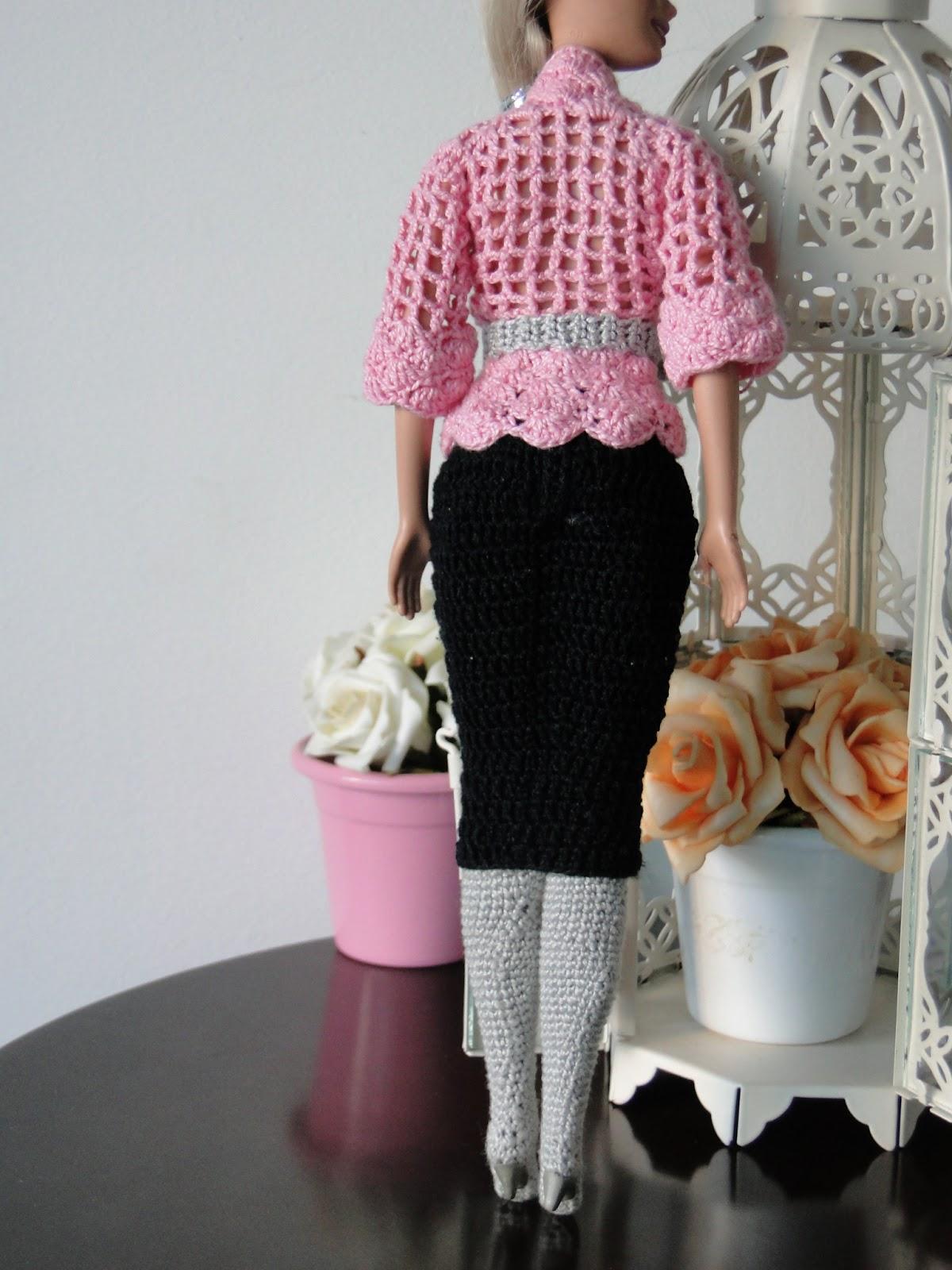Roupa de Crochê Para Barbie Por Pecunia MillioM 7