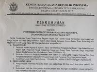 Penerimaan Dosen Tetap Non-PNS STAIN Curup Tahun 2017