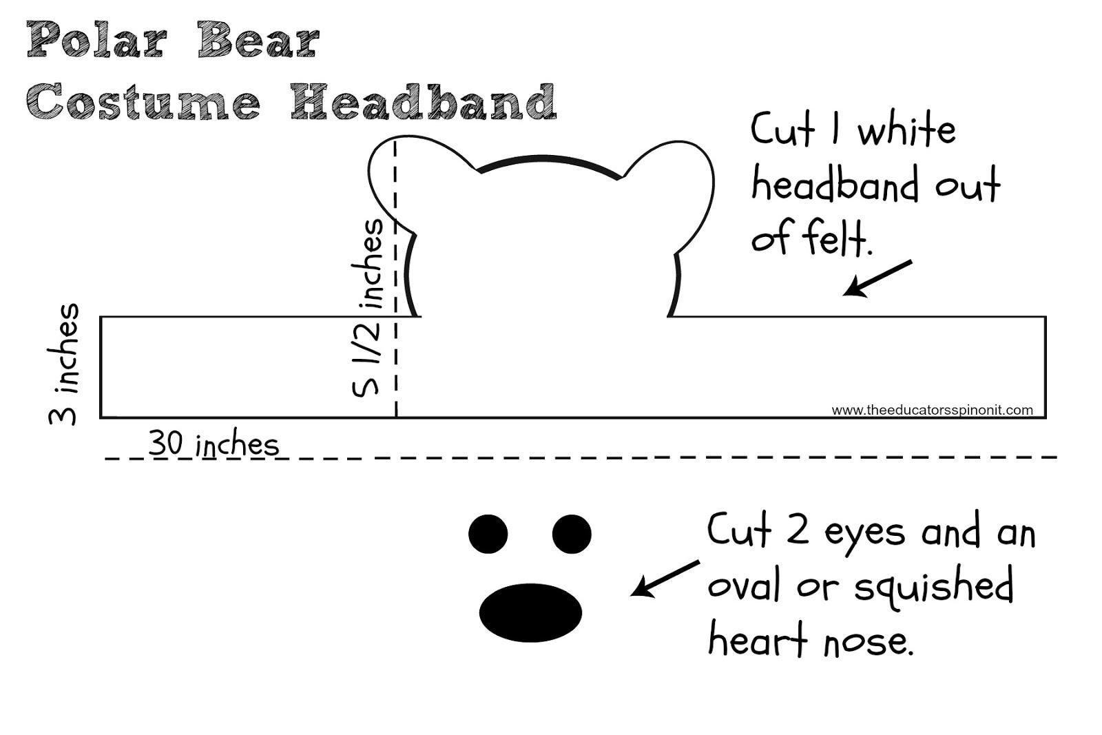 The Educators Spin On It Polar Bear Costume Headband For