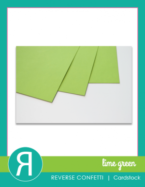 lime green cardstock