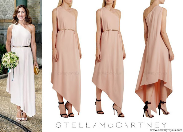 Crown Princess Mary wore STELLA MCCARTNEY Charlie one-shoulder stretch crepe gown