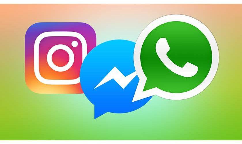 دمج متوقع لرسائل تطبيقات الفيس بوك