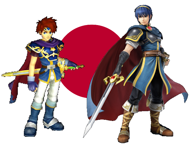 Roy and Marth, the Fire Emblem guys in Super Smash Bros. Melee, are loyal to Japan.