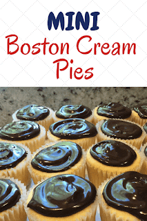 Boston Cream Cupcakes| Mini Boston Cream Pies