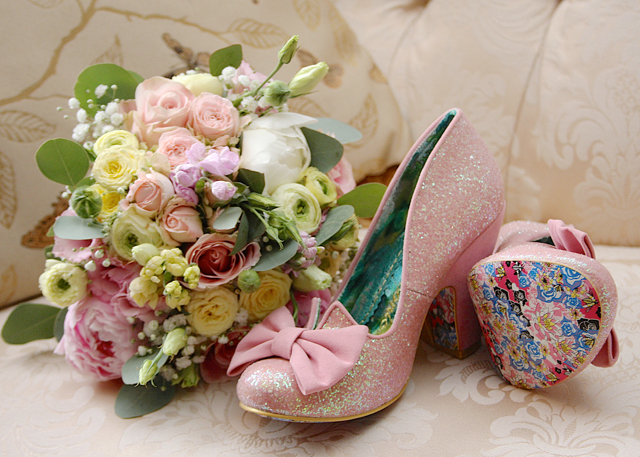 Irregular Choice Pink Nick of Time Irregular Choice bow shoes