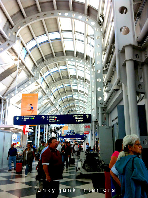Chicago airport roofline via Funky Junk Interiors