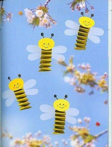 Ide membuat kreasi berbentuk lebah menggunakan kertas lipat untuk anak-anak