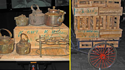 Teapots and boxes on Indian bicycles