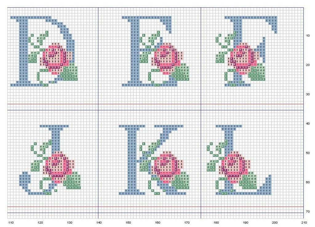 Grande Raccolta Di Schemi E Grafici Per Punto Croce Free Alfabeto E
