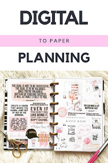 How To Plan Your Week Digitally and Transfer It To Your Planner!
