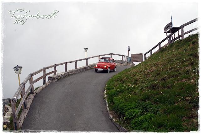 Zufahrt Edelweißhütte | Großglockner | Fiat 500 | Oldtimer - Blog Topfgartenwelt