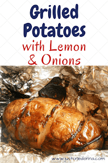 Grilled Potatoes with Lemon and Onions