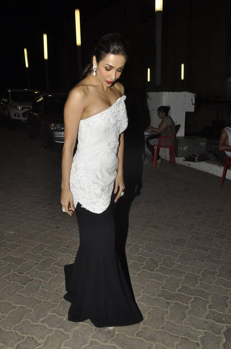 Malaika Arora Khan Hot Photoshoot Stills In White Gown