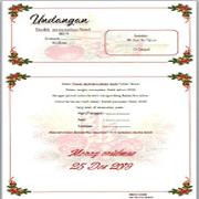 undangan natal format MS.word