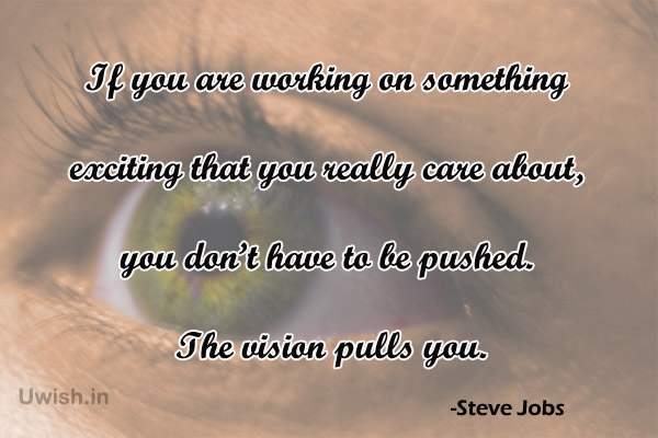 Steve jobs Inspirational & Motivational Quotes on vision
