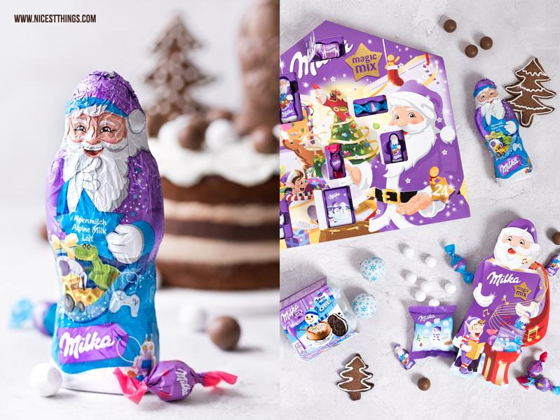 Milka Torte Weihnachtsmann Adventskalender Snowballs Magic Mix