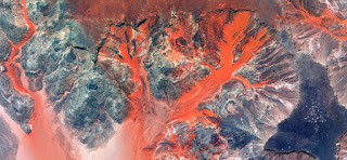 abstract photography deserts of Africa from the air,Fantasy lava desert sand,