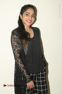 Actress Punarnavi Bhupalam Stills in Black Dress at Pittagoda Press Meet  0060.JPG