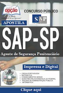 Apostila Secretaria de Administração Penitenciária SAP-SP Concurso 2016