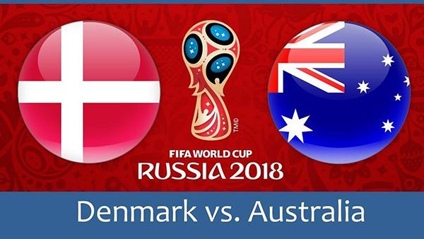 موعد مباراة الدنمارك واستراليا اليوم الخميس 21-06-2018 في كأس العالم 2018 قنوات مواجهة الدنمارك ضد استراليا