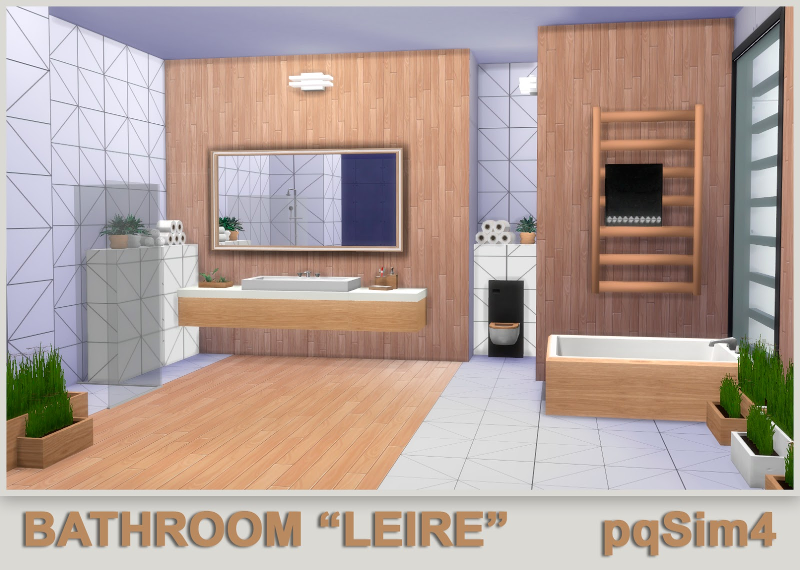"""We use cookies and other data collection technologies to provide the best experience for our customers. Bathroom """"Leire"""". Sims 4 Custom Content."""
