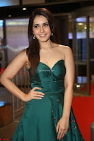 Raashi Khanna in Dark Green Sleeveless Strapless Deep neck Gown at 64th Jio Filmfare Awards South ~  Exclusive 119.JPG