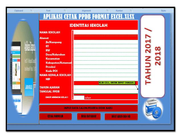 Aplikasi Cetak PPDB Format Excel.Xlsx Versi Dapodik