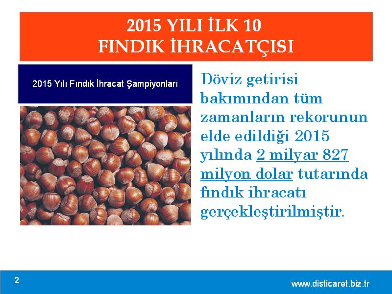 2015 yılında en fazla fındık ihraç eden 10 firma, resim 2