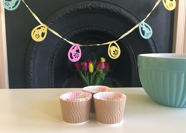 DIY Easter Garland Paper Cup Cupcake Cases