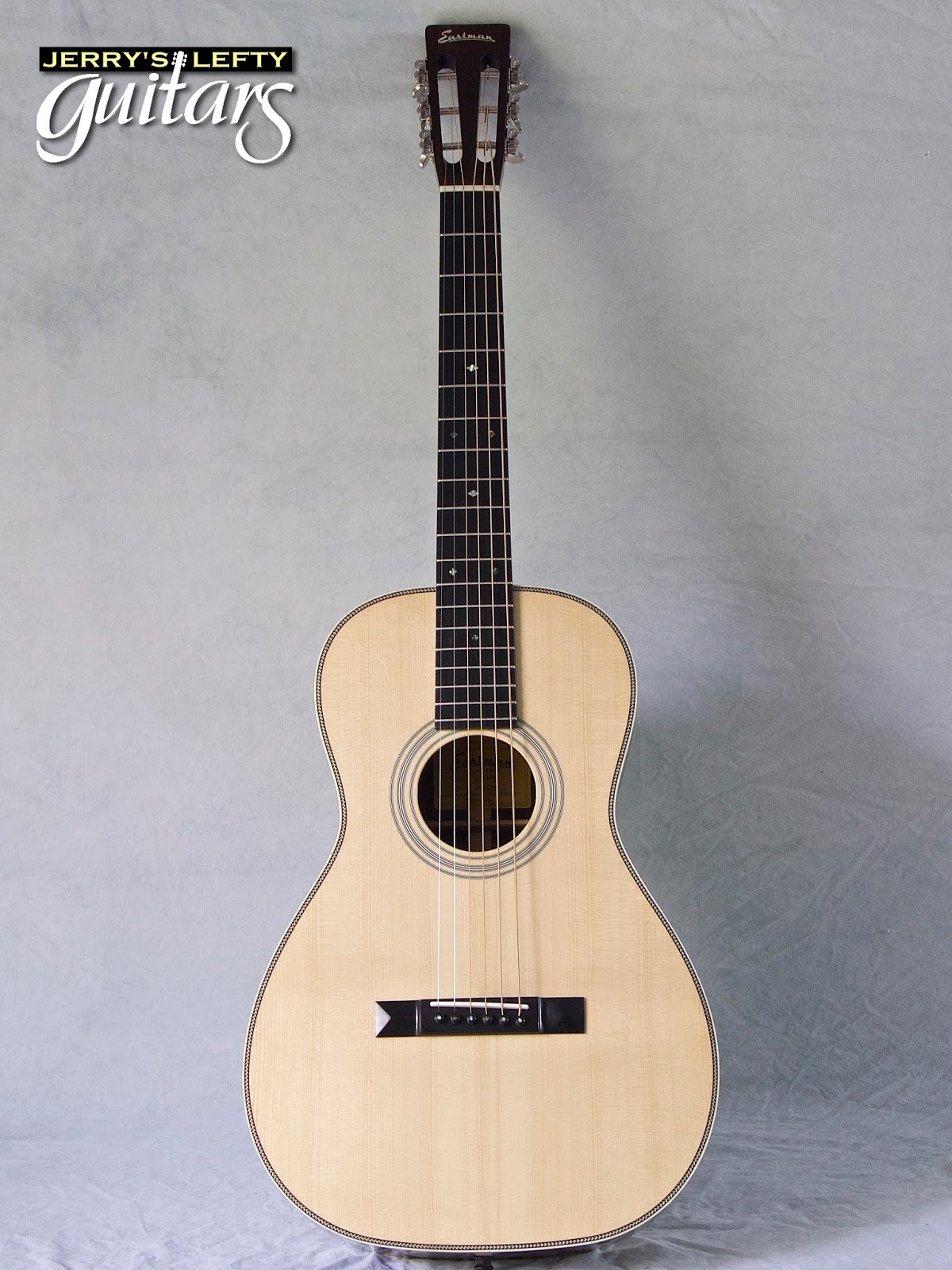 jerry 39 s lefty guitars newest guitar arrivals updated weekly eastman e20p parlor left handed. Black Bedroom Furniture Sets. Home Design Ideas