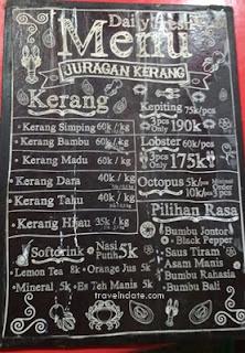 menu juragan kerang terbaru