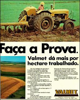 propaganda trator florestal Valmet 1976, Valmet anos 70, trator década de 70, Oswaldo Hernandez,