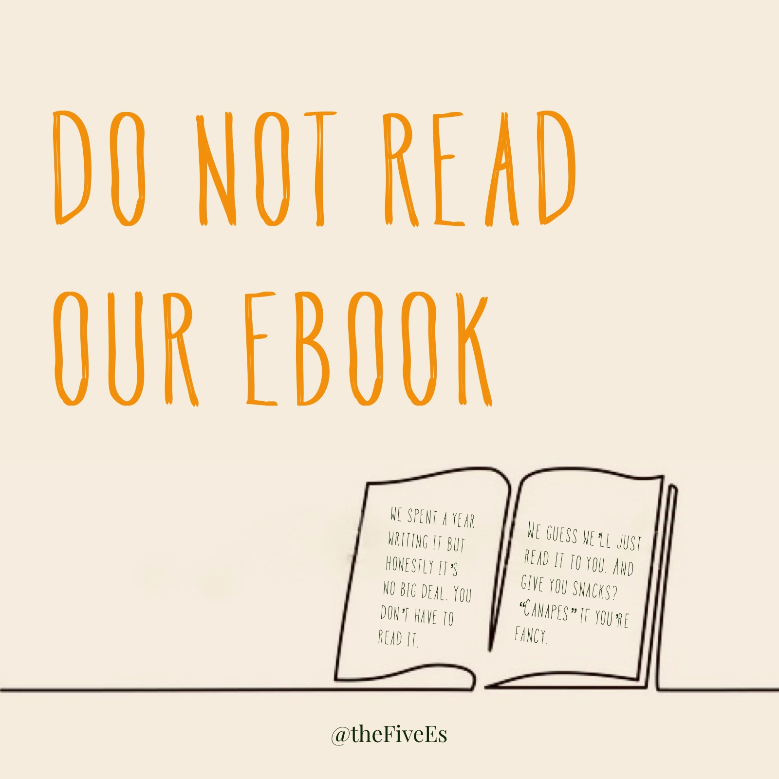 Do not read our eBook