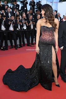 Priyanka Chopra Rocks the Rocketman Screening Cannes ina Sizzling Dark Gown .XYZ Exclusive 06