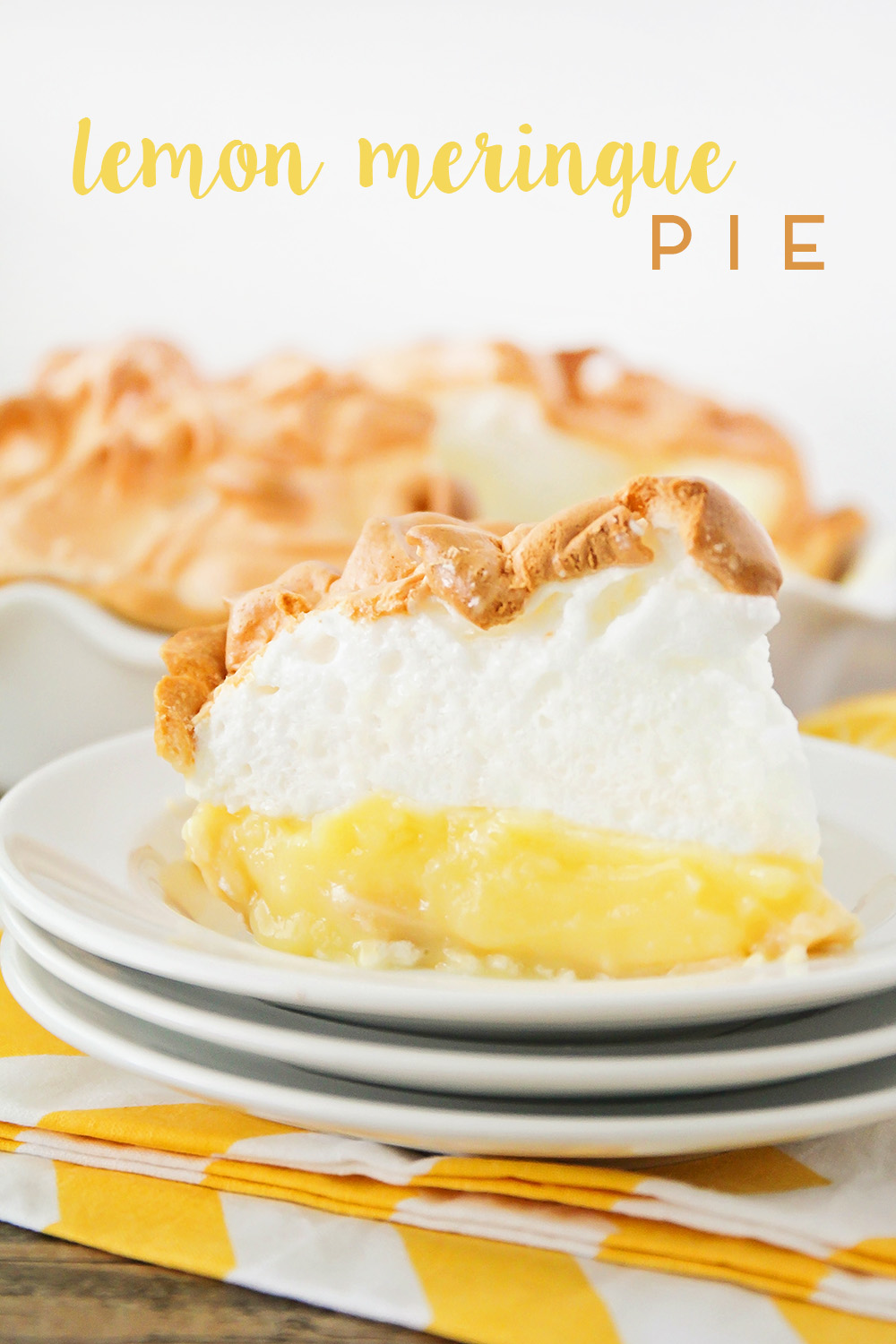 This lemon meringue pie is so heavenly and easy to make too! Deliciously tart and flavorful lemon custard topped with clouds of sweet fluffy meringue, for a show-stopping dessert!