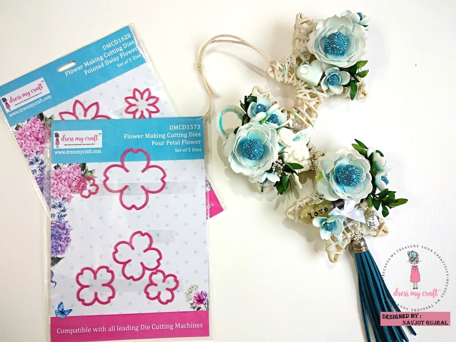 Dress My Craft Home Decor Flowers With Dress My Craft Dies