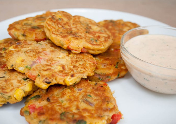 Vegetable Fritters #vegan #snacks
