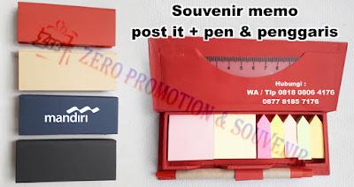Souvenir Kantor unik Memo Post it, Memo note stick post it, Souvenir Memo Recycle Pen Post It, KERTAS CATATAN MEMO POST IT SOUVENIR