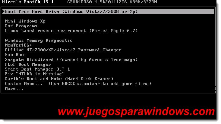 Hiren's BootCD v15.1 Screenshot