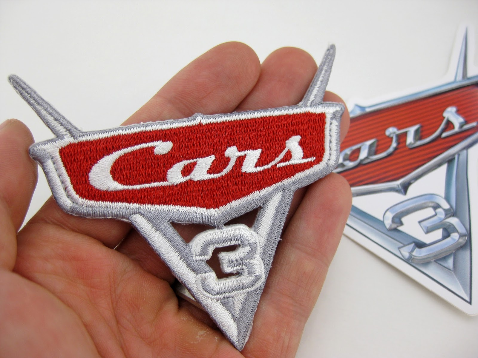 pixar studio store cars 3 sticker patch
