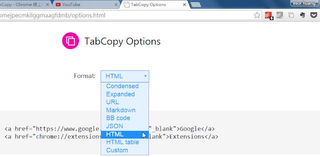 網站編輯必備 TabCopy 一鍵複製所有分頁標題與網址