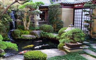 Contoh konsep taman Jepang