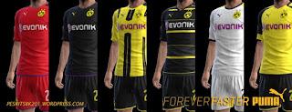 Kits Borussia Dortmund 2016-2017 Update Pes 2013